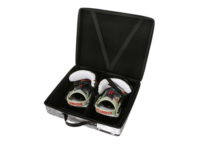 Union charger thermal formed EVA shoes zippered case for snowboard bindings elastic band inside and DIY interior