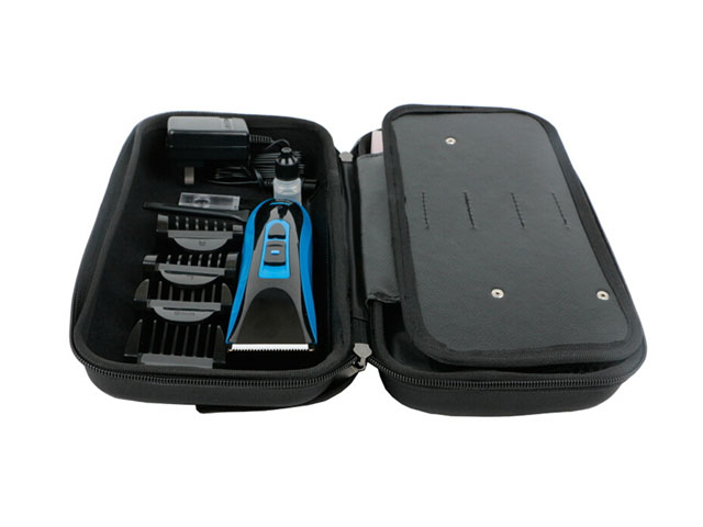 Riwa EVA razor blade storage case bag box for Professional Hair Clipper mesh pocket and organized flap inside