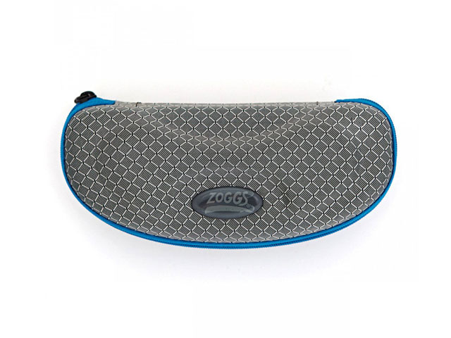 Zoggs hard EVA swim goggle carry case with rugged nylon covering and poly lining compact slim design