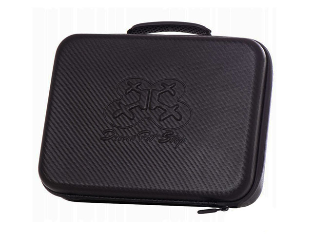 Durable Compact EVA drone travel case with waterproof carbon fibre coated plastic handle and double foam interior
