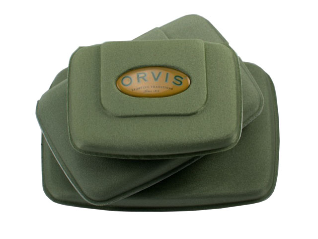 Orvis Lightweight EVA Foam Fly Box cases with foam insert magnetic button closure floating design 3 sizes available