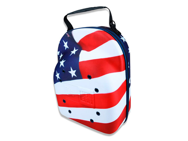 NEW ERA EVA Baseball Hat Storage Travel Case With Ventilation Holes  American Flag Patters Fits 6 Packs