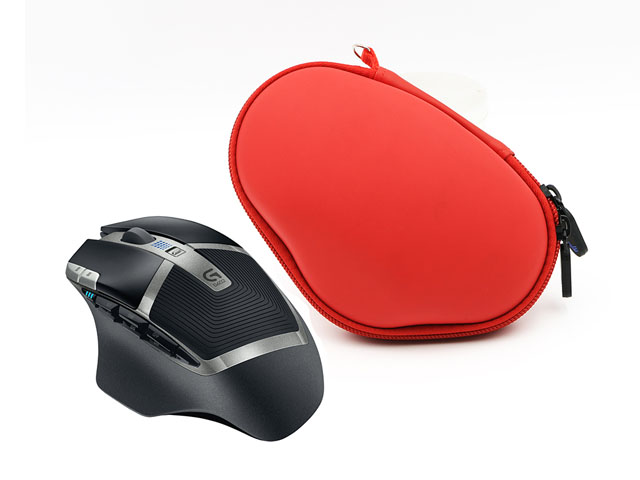 Computer mouse carrying case custom EVA Shaped for Logitech G602 by SABER