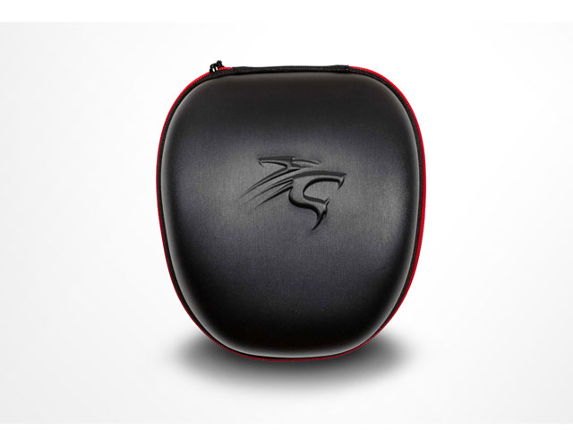 Sentey headphone carrying hard case leather covering with embossed logo for universal holding