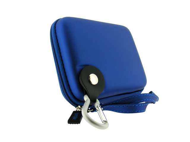 igadgitz Portable EVA external hard drive case with leather wrist strap free sample design