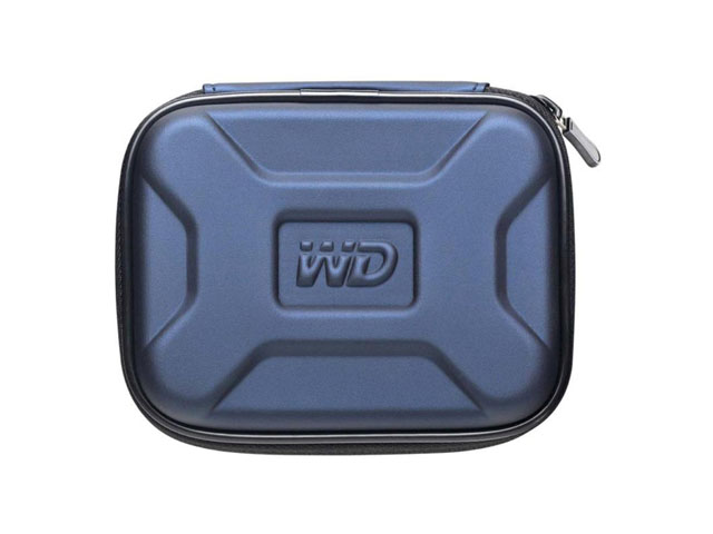 Western Digital external usb EVA hard drive case PU coated with embossed WD logo
