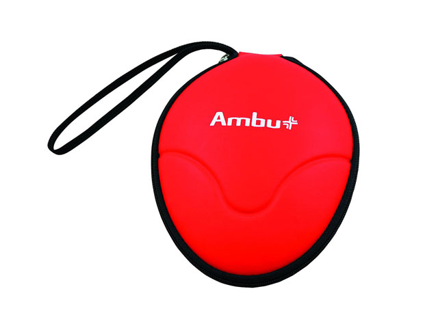 Hard shell EVA foam Ambulance Rescue mask carrying case with nylon zipper closure various colors