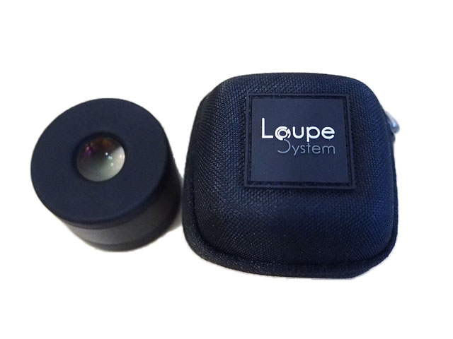 Loupe System small EVA loupe zipper case for watch repairs nylon coated with rubber patch logo