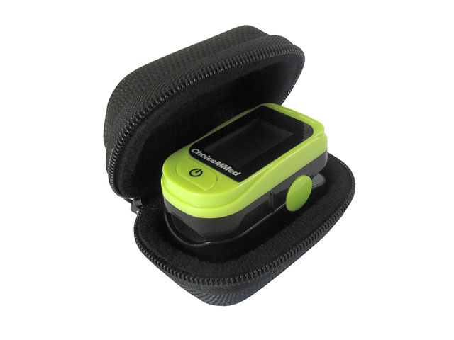 Medisave Hard Shell finger pulse oximeter carrier case with durable 1680D nylon covered
